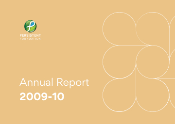 Persistent Foundation Annual Report 2009-10